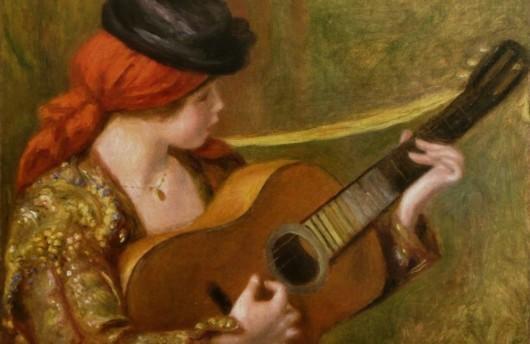 Pierre-Auguste Renoir - Jeune Espagnole jouant de la guitare