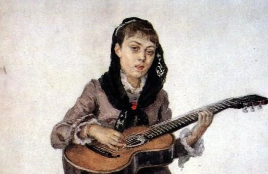 Portrait de la pincesse kropotkina - Vasily Surikov
